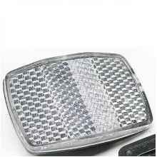 Катафот (световозвращатель) передний белый (55*36 мм)
