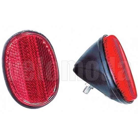 Катафот (световозвращатель) HL-R04 на багажник велосипеда красный (60*40 мм)