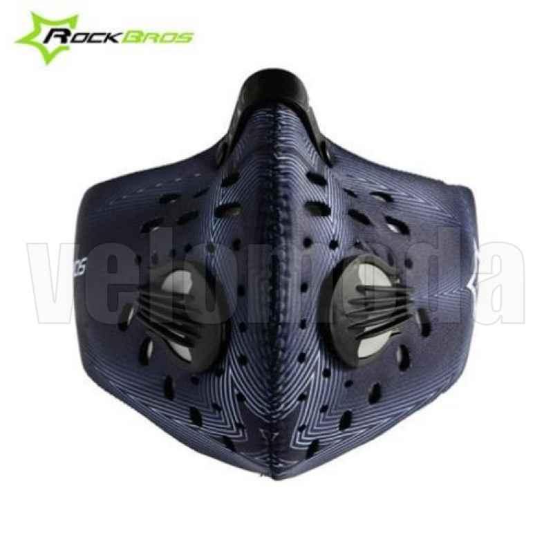 Маска (респиратор) для велосипедиста RockBros LF039 с угольным фильтром (Фиолетовая)