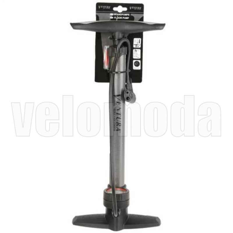 Велонасос с манометром VENTURA напольный Presta/Shrader
