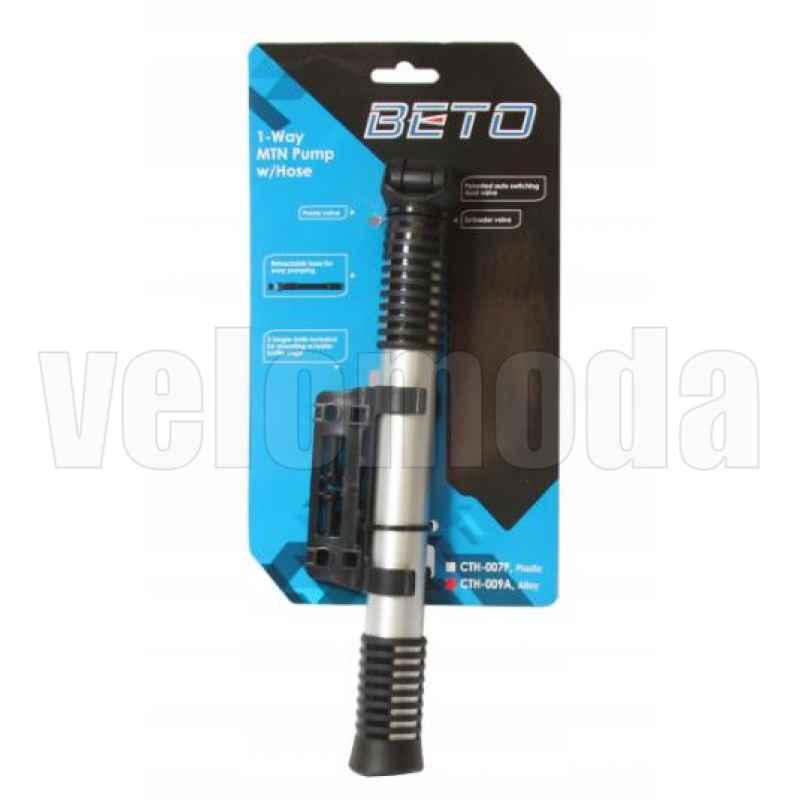 Велосипедный насос Beto CTH-009A алюминиевый со шлангом