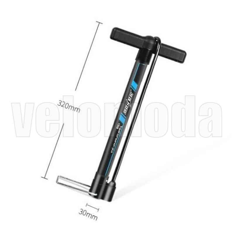 Велосипедный насос со шлангом, алюминиевый Sahoo 311376 (Черный)
