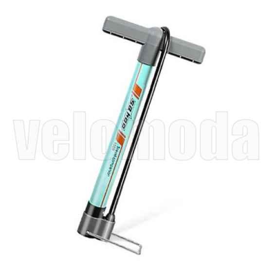 Велосипедный насос со шлангом, алюминиевый Sahoo 311376 (Бирюзовый)