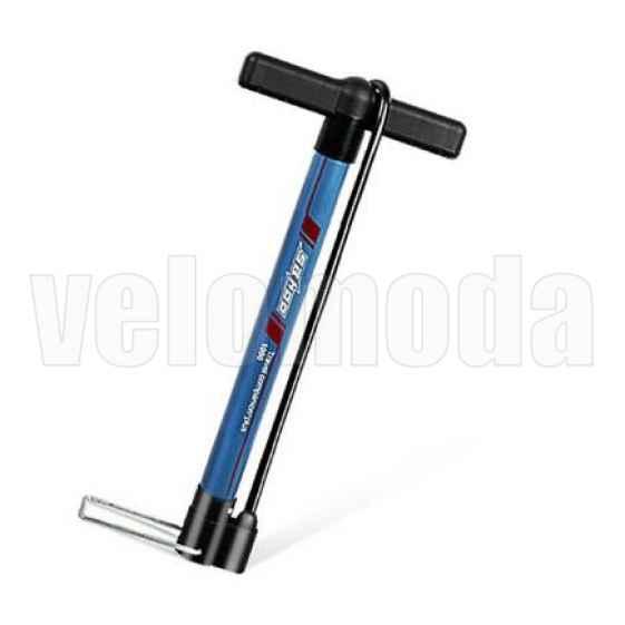 Велосипедный насос со шлангом, алюминиевый Sahoo 311376 (Синий)