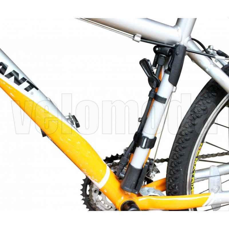 Велосипедный насос со шлангом, алюминиевый
