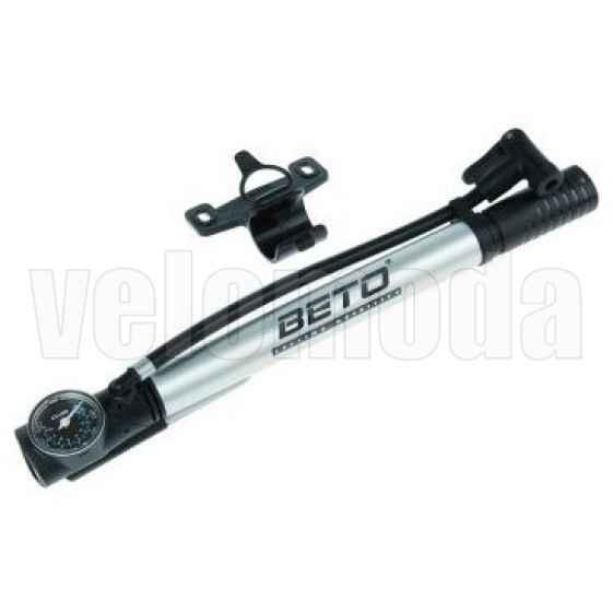 Насос для велосипеда с манометром и шлангом Beto (алюминиевый)