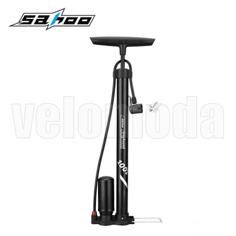 Велосипедный насос со шлангом, алюминиевый Sahoo 321281-A