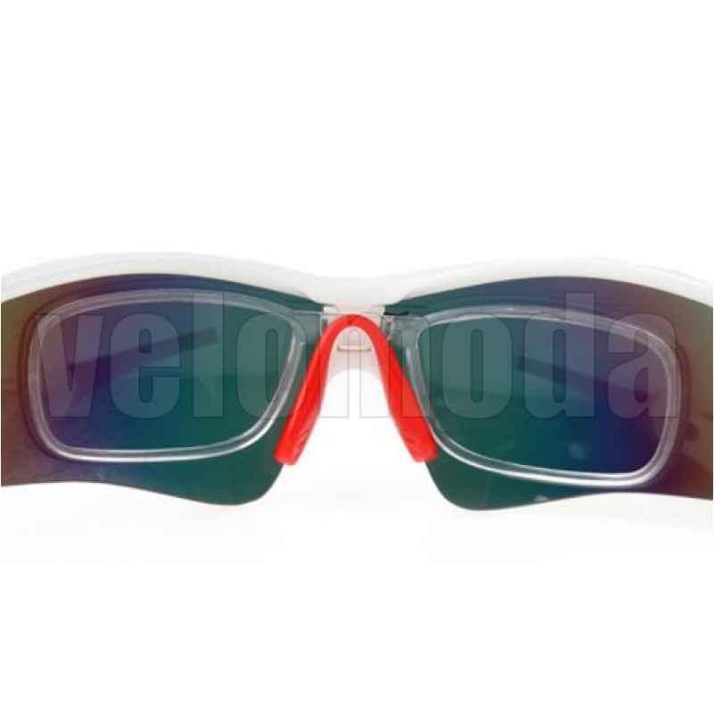 Очки велосипедные RockBros 10006 с диоптриями UV400 Polarized (черные-бордовые)