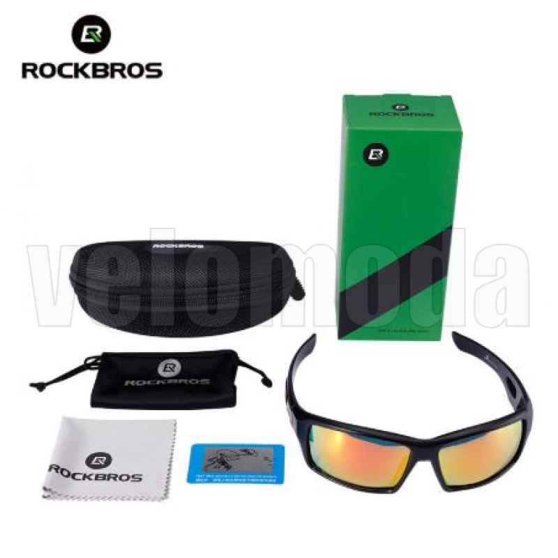 Очки велосипедные RockBros 10078 Polarized (черные с серым)