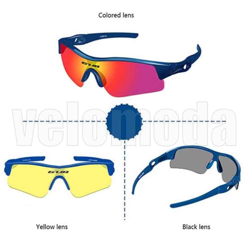 Очки детские спортивные поляризационные GUB 6100 UV400 (Синие)