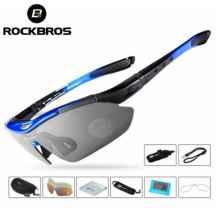Очки велосипедные RockBros 10001 с диоптриями UV400 Polarized (синие)