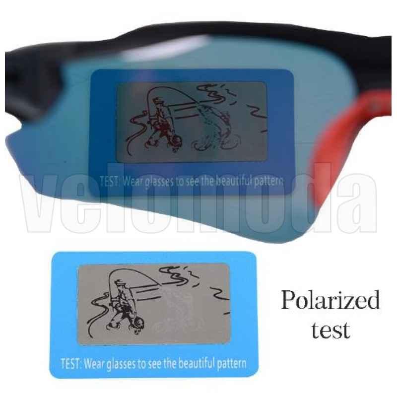 Очки велосипедные RockBros 10038 UV400 Polarized (Черные с красным)