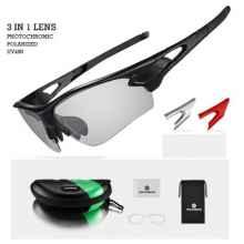 Очки велосипедные RockBros 10070 с диоптриями, Polarized, фотохромные (Черный)