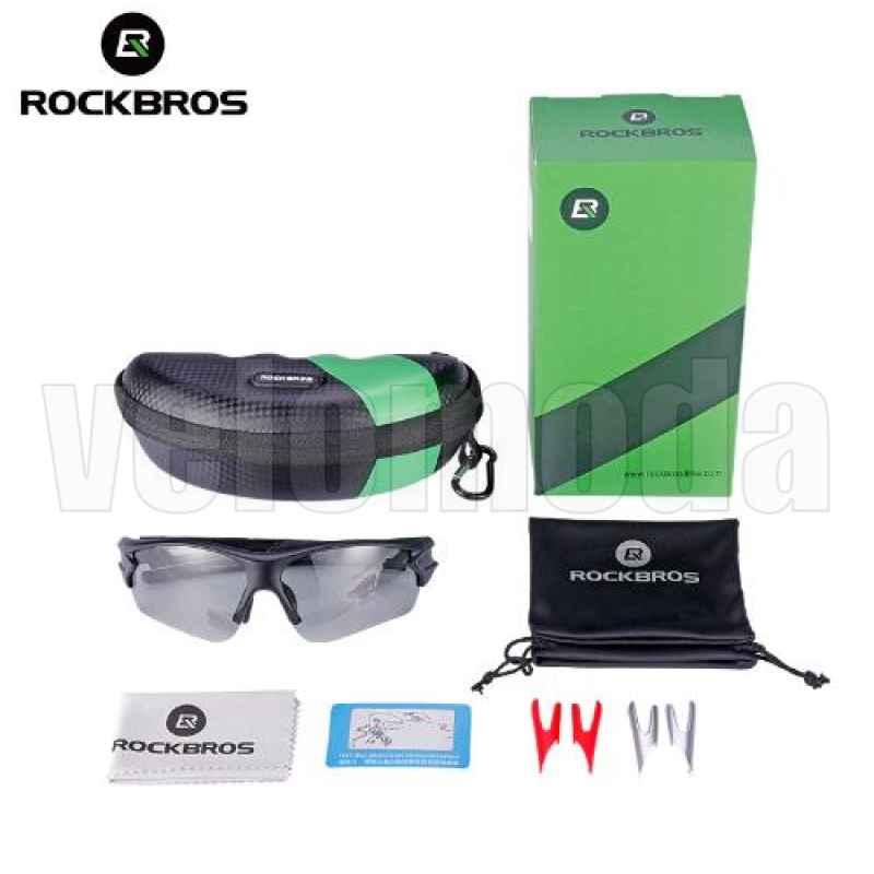 Очки велосипедные RockBros 10063 фотохромные, UV400, поляризационные (Чёрные)