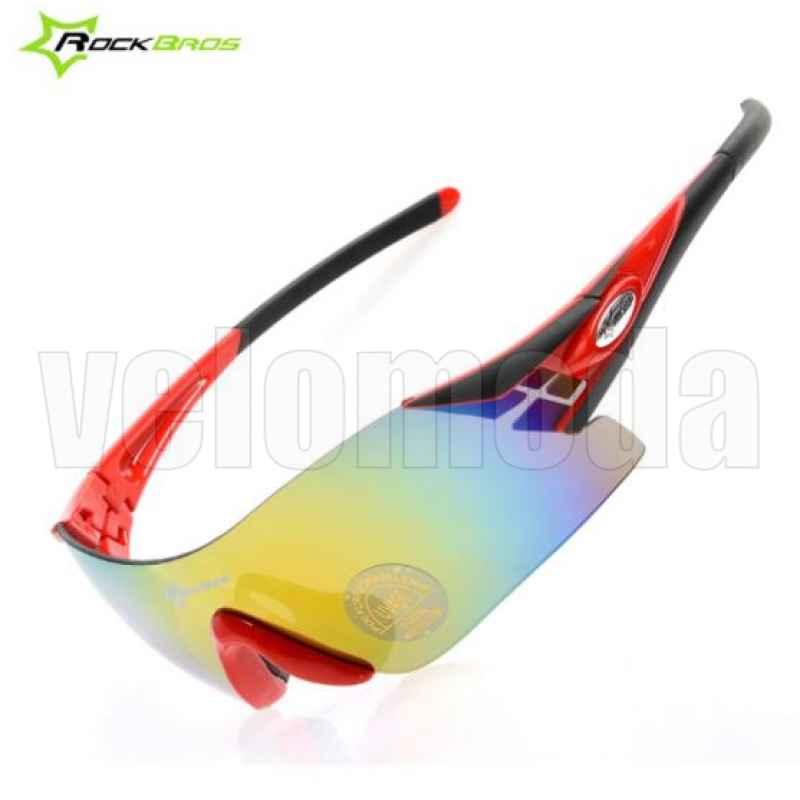 Очки велосипедные RockBros 10018 UV400 Polarized (черные-красные)