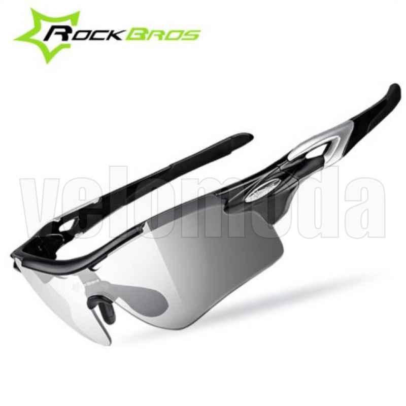 Очки велосипедные RockBros RB-SP28 с диоптриями Polarized, фотохромные (черные)