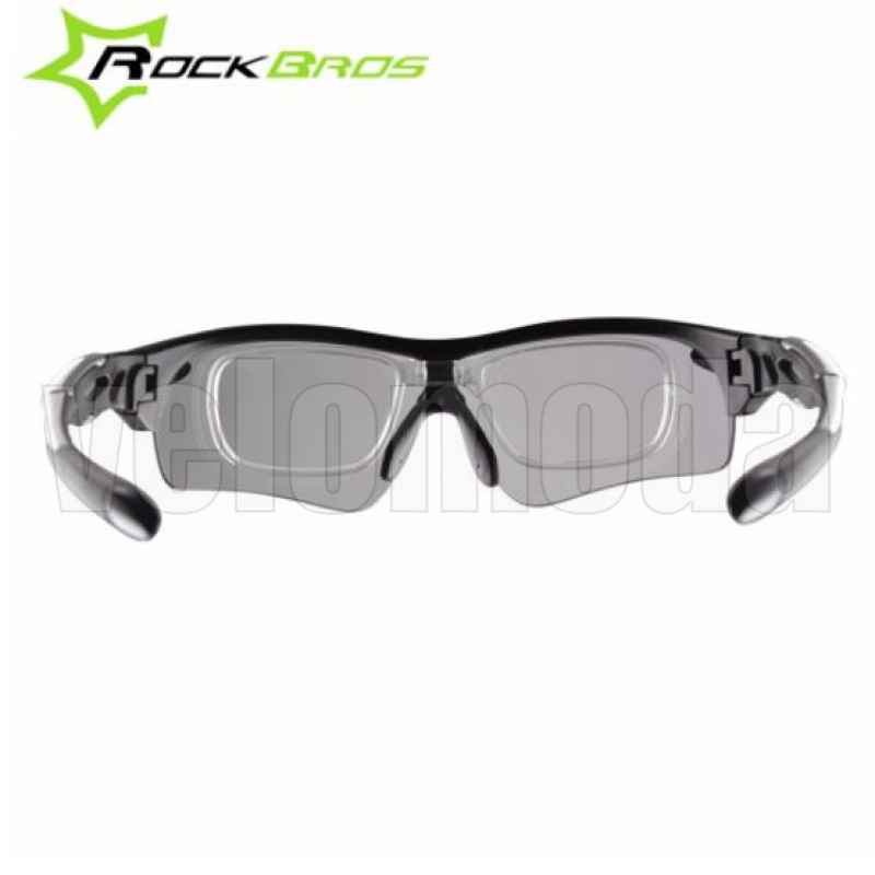 Очки велосипедные RockBros RB-SP28 с диоптриями Polarized, фотохромные (красные)