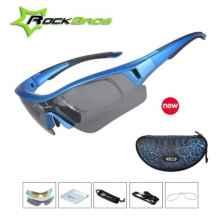 Очки велосипедные RockBros SP57 с диоптриями UV400 Polarized (синие)