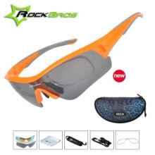 Очки велосипедные RockBros 10050 с диоптриями UV400 Polarized (оранжевые)