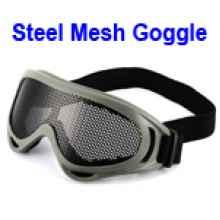 Очки Goggles со стальной сеткой  (Армейский зеленый)