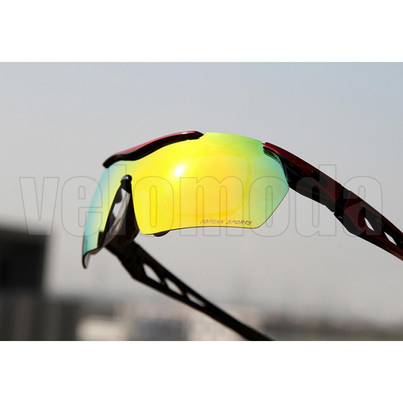 Очки велосипедные Topeak Sports с диоптриями (красные)