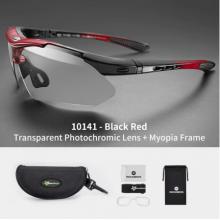 Очки велосипедные RockBros 10141 фотохромные, UV400 (Чёрно-красные)