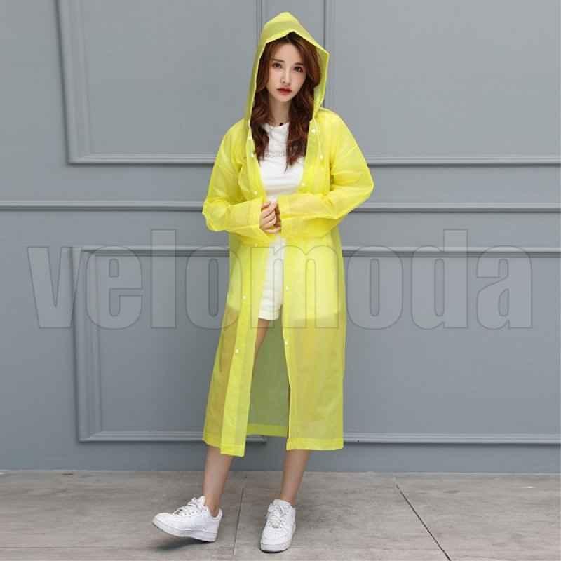 Дождевик с капюшоном ветрозащитный EVA (Жёлтый)