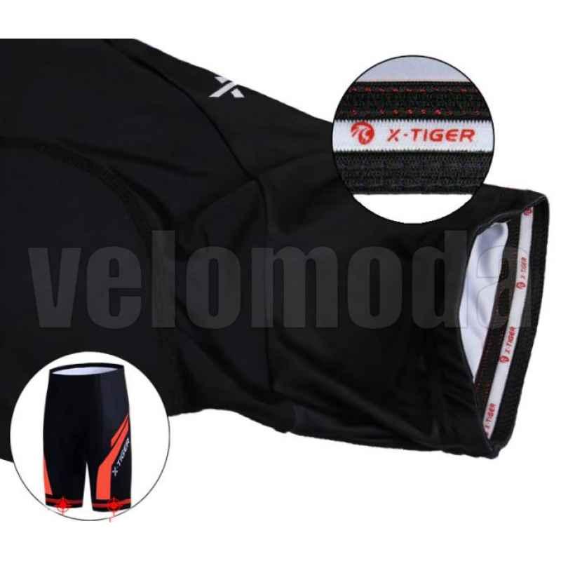 Велошорты с гелевым памперсом мужские X-Tiger DK501 размер M (Красный)