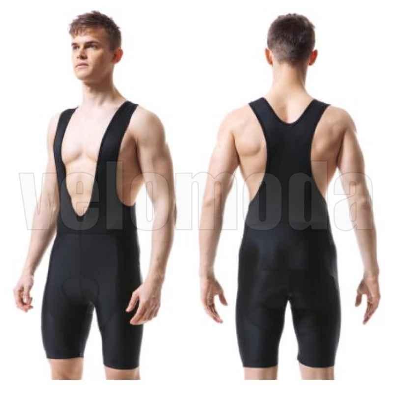 Велошорты с лямками и гелевым памперсом мужские X-Tiger DBK101 размер L (Черный)