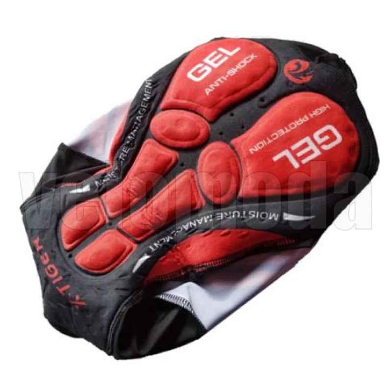 Велошорты с лямками и гелевым памперсом мужские X-Tiger DBK501 размер M (Красный