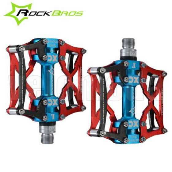 Педали для велосипеда Rockbros 12V (Красные)