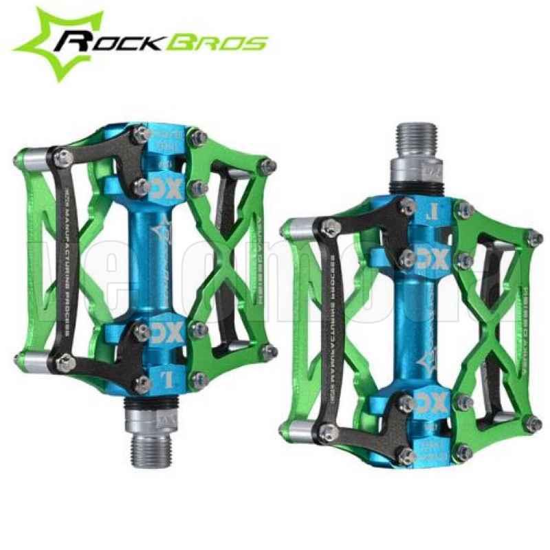 Педали для велосипеда Rockbros 12V (Зеленые)