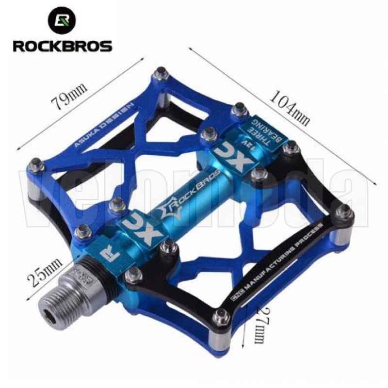 Педали для велосипеда Rockbros 12V (Золото)