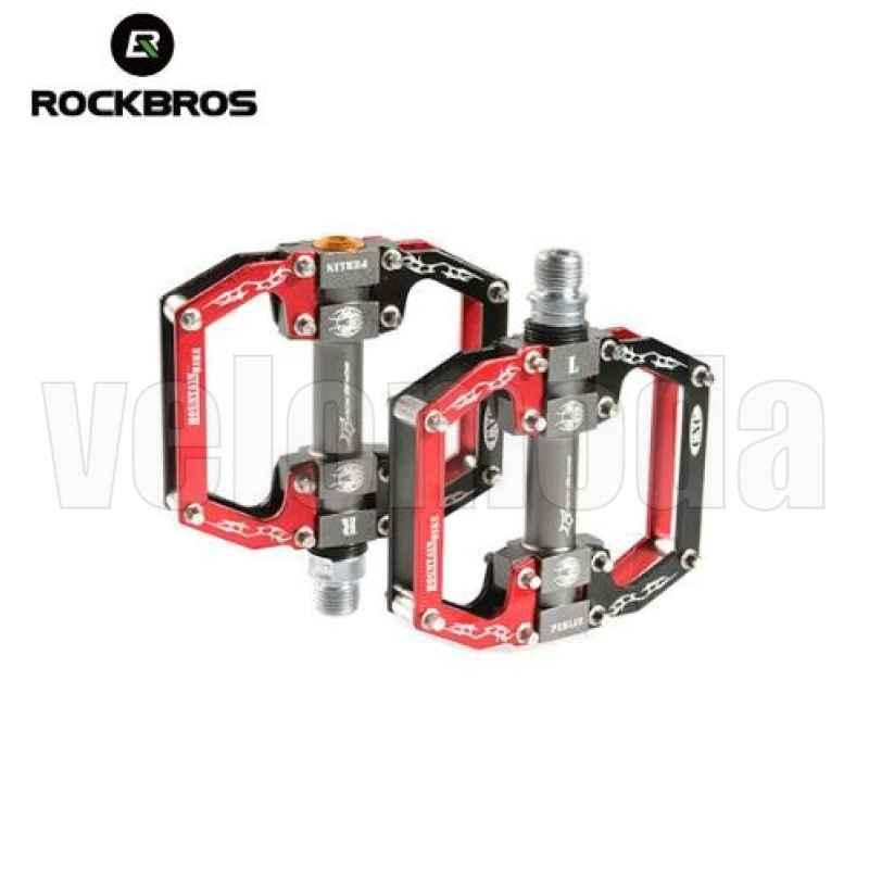 Педали для велосипеда Rockbros 2010-12S (Черный-красный)