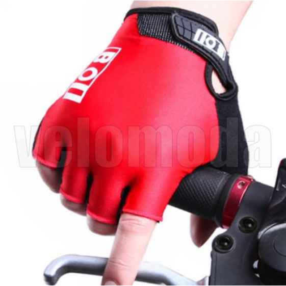 Велоперчатки BOI 41914 с поролоновыми вставками дышащие (Красный)