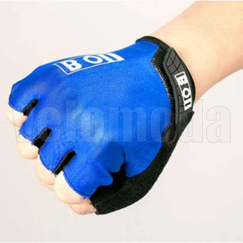 Велоперчатки BOI 41914 с поролоновыми вставками дышащие (Синие)
