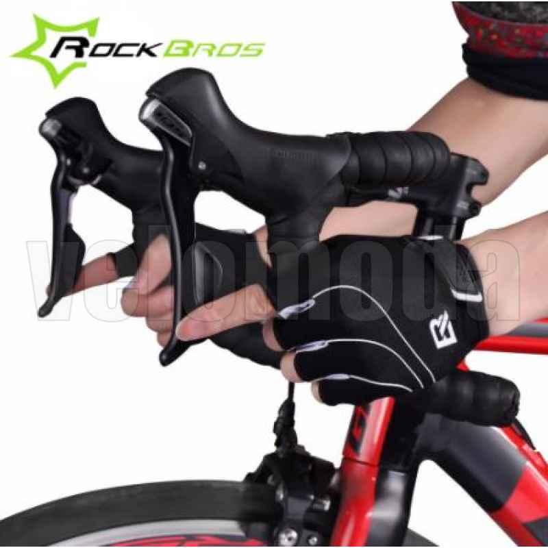 Велоперчатки Rockbros S107 Spider XL с гелевыми вставками дышащие (Черный-белый)