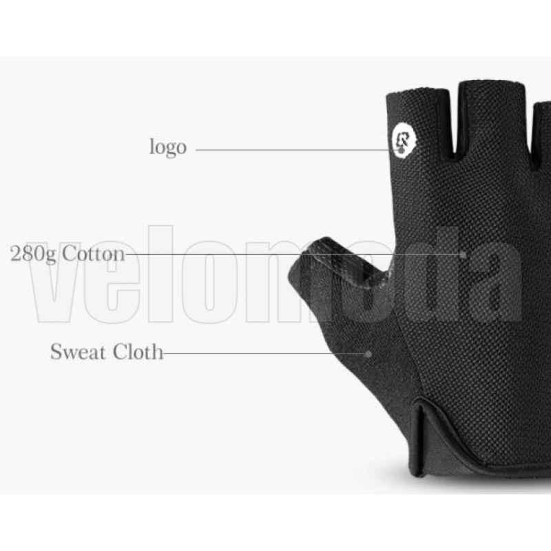 Велоперчатки Rockbros S106 M с гелевыми вставками дышащие (Черные)