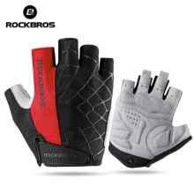 Велоперчатки Rockbros S109 Spider L с гелевыми вставками дышащие (Красные)