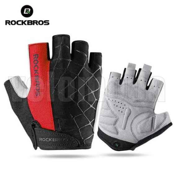 Велоперчатки Rockbros S109 Spider XL с гелевыми вставками дышащие (Красные)