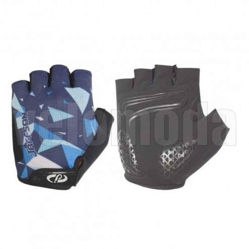 Велоперчатки Jaffson 46-0384 с гелевыми вставками M (синие)