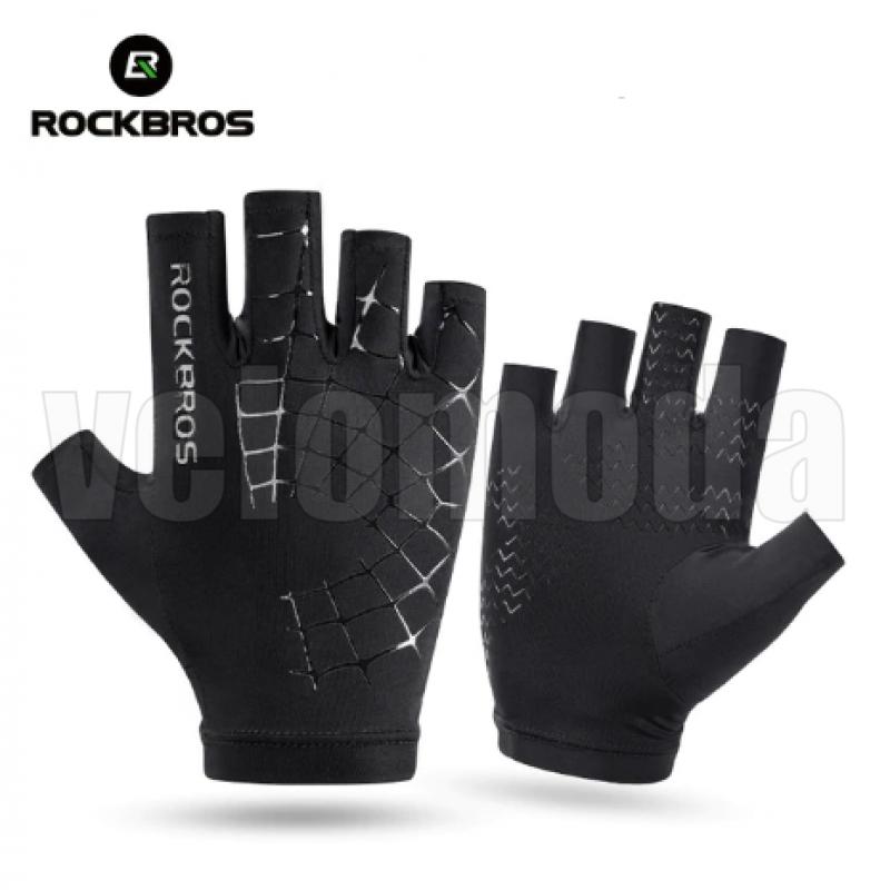 Велоперчатки Rockbros S202 S ультратонкие Anti Slip (Черный)