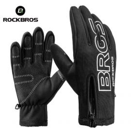 Велоперчатки Rockbros S107 Full Spider L с гелевыми вставками дышащие (Черный-белый)