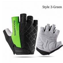 Велоперчатки Rockbros S109G Spider M с гелевыми вставками дышащие (Зелёные)