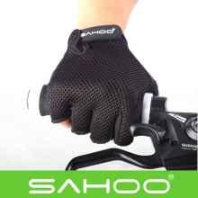 Велоперчатки Sahoo дышащие (Черные)