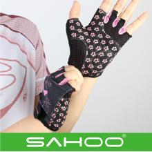 Велоперчатки Sahoo дышащие S (Розовый узор)