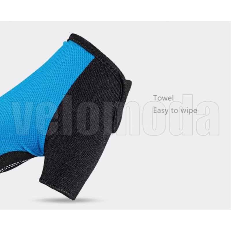 Велоперчатки Rockbros S099 XL с гелевыми вставками дышащие (Синие)