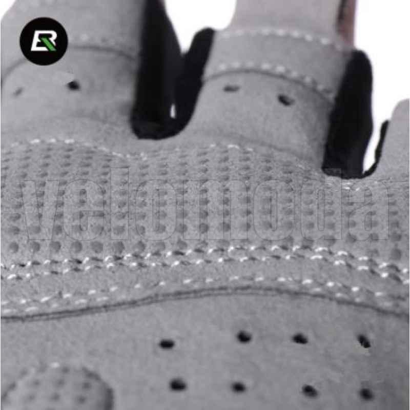 Велоперчатки Rockbros S109 Spider M с гелевыми вставками дышащие (Серые)