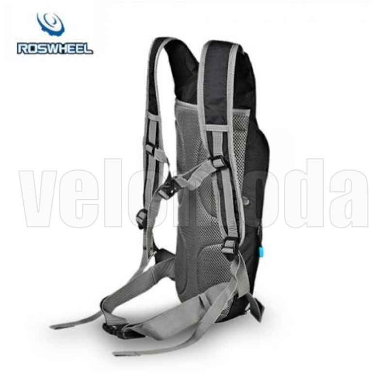Велорюкзак ортопедический Roswheel 15938 + гидратор 2 литра (черный)