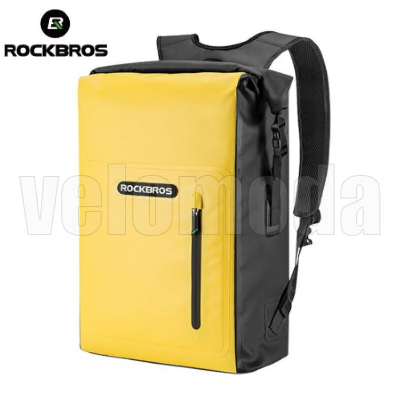 Водонепроницаемая сумка-рюкзак RockBros AS-032BL (Черно-жёлтая)